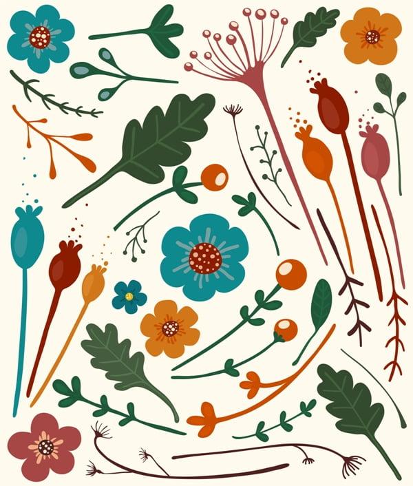 Autmn Flowers Collection